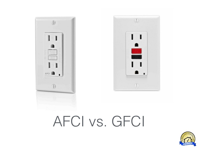 DIFFERENCE BETWEEN AFCI AND GFCI OUTLETS?